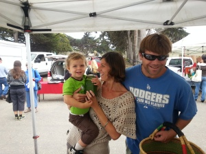 It's Jackson our kale baby with Annie and Keith enjoying the Baywood market! This little guy loves his kale juice!