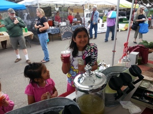 Another little juice fan with her Gingy Beet in hand! Yum!