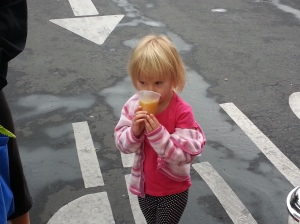 It's Cora in Arroyo Grande!! She enjoys starting her day with some Ginger A.B.P. way to go Cora!
