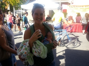 This beautiful mama drank her kale juice all summer while prego! Check out her beautiful kale baby! <3
